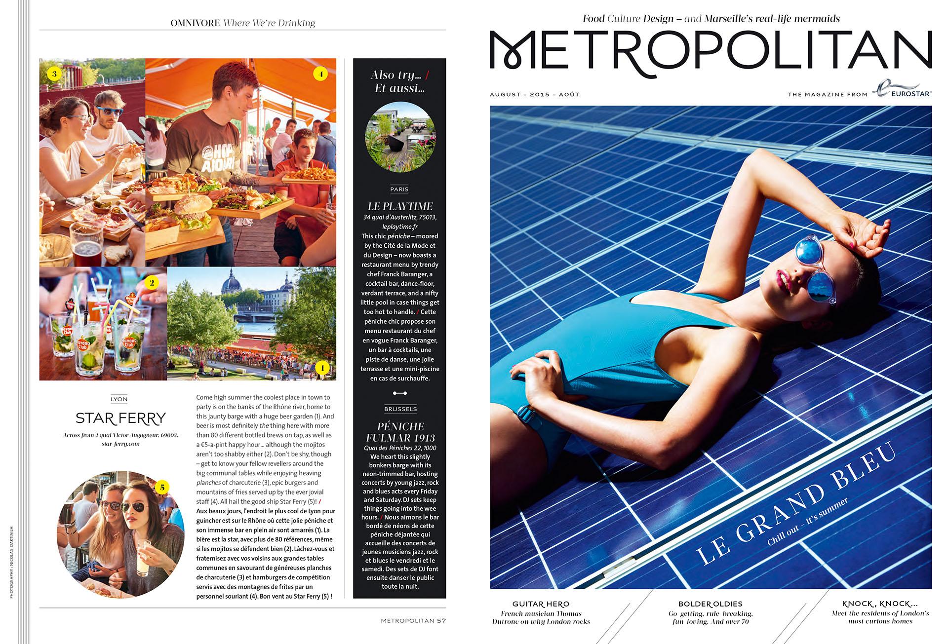 Eurostar Magazine - Metropolitan - Where we're drinking