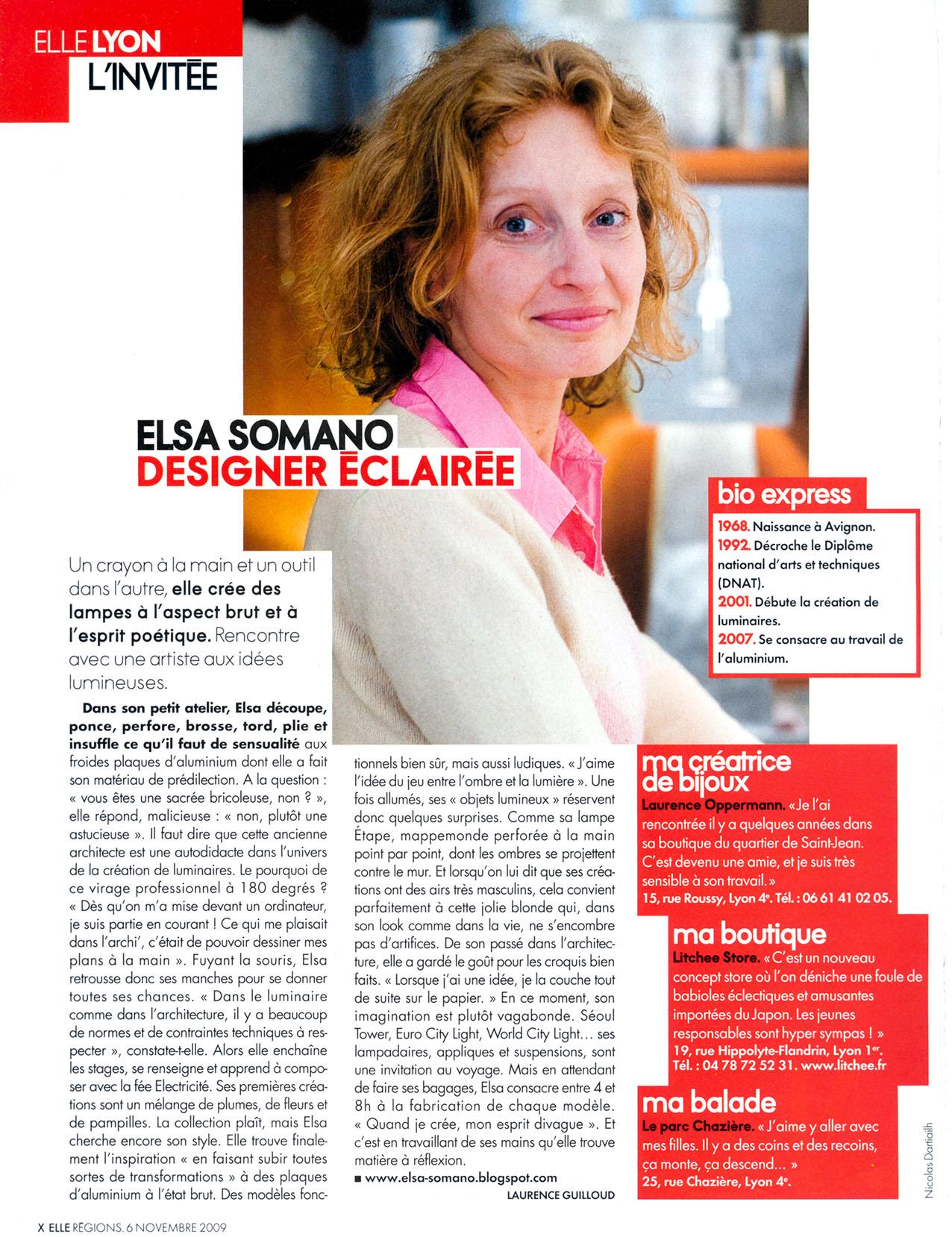 Elle Lyon - Elsa Somano - 2009