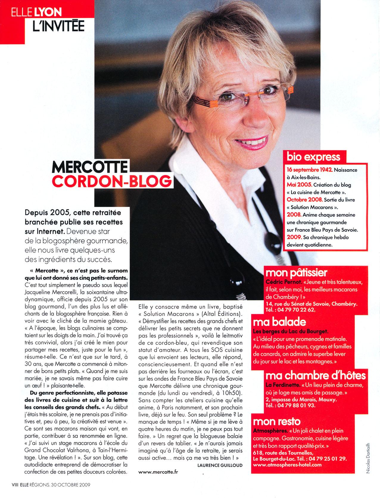 Elle Lyon - Madame Mercotte - 2009