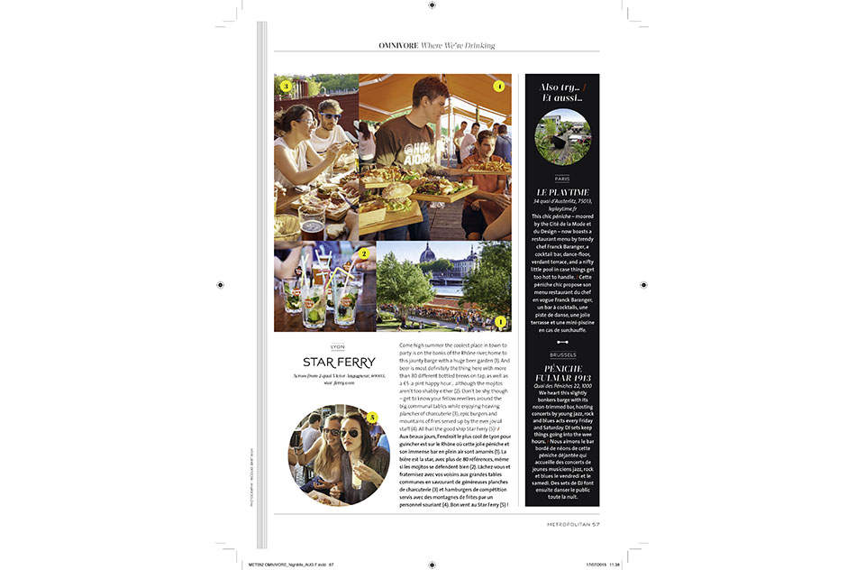 Eurostar Magazine - Metropolitan - Where we're drinking