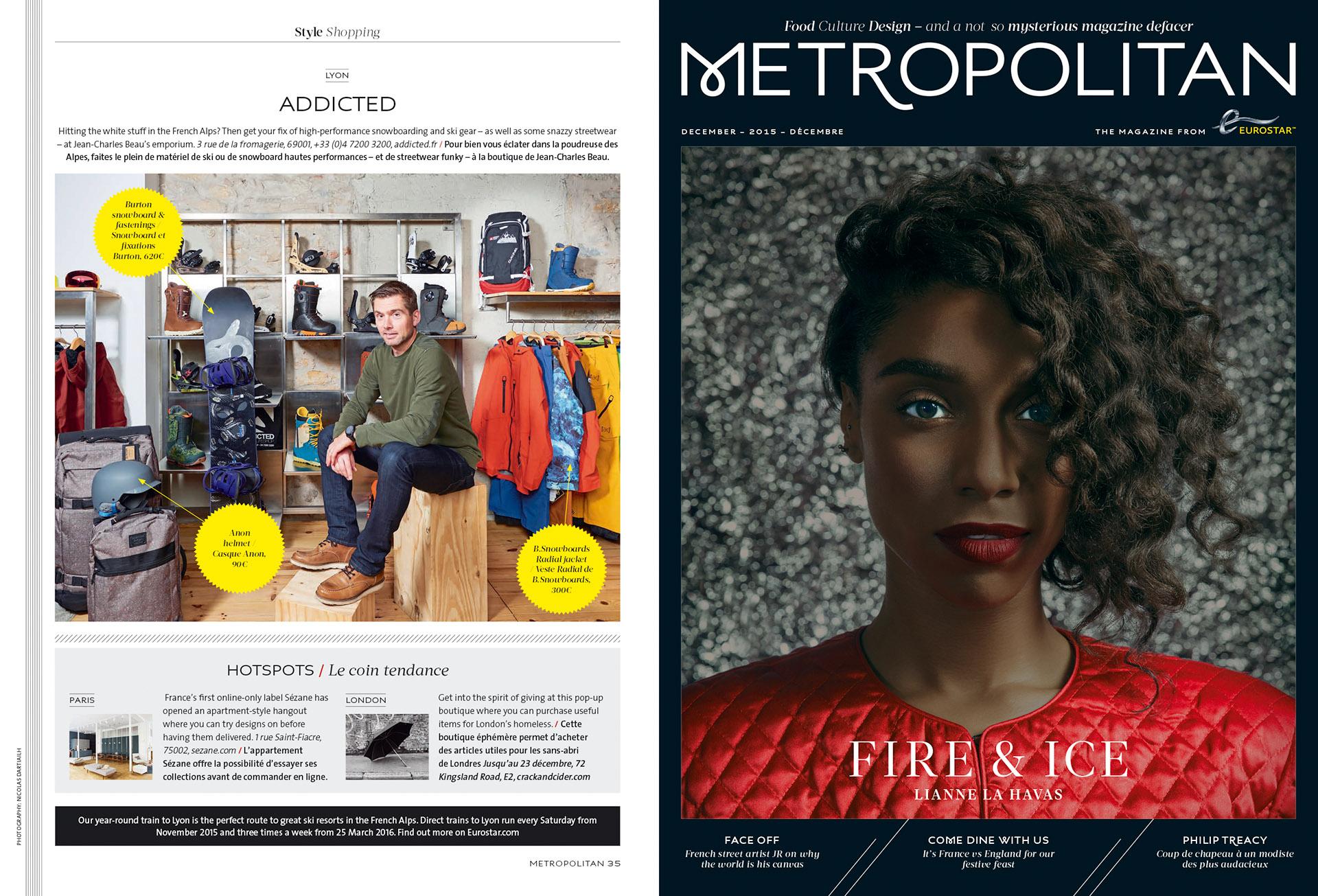 Eurostar Magazine - Metropolitan - Shopping - Décembre 2015
