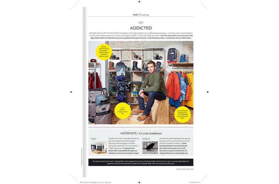 Eurostar Magazine - Metropolitan - Shopping - novembre 2015