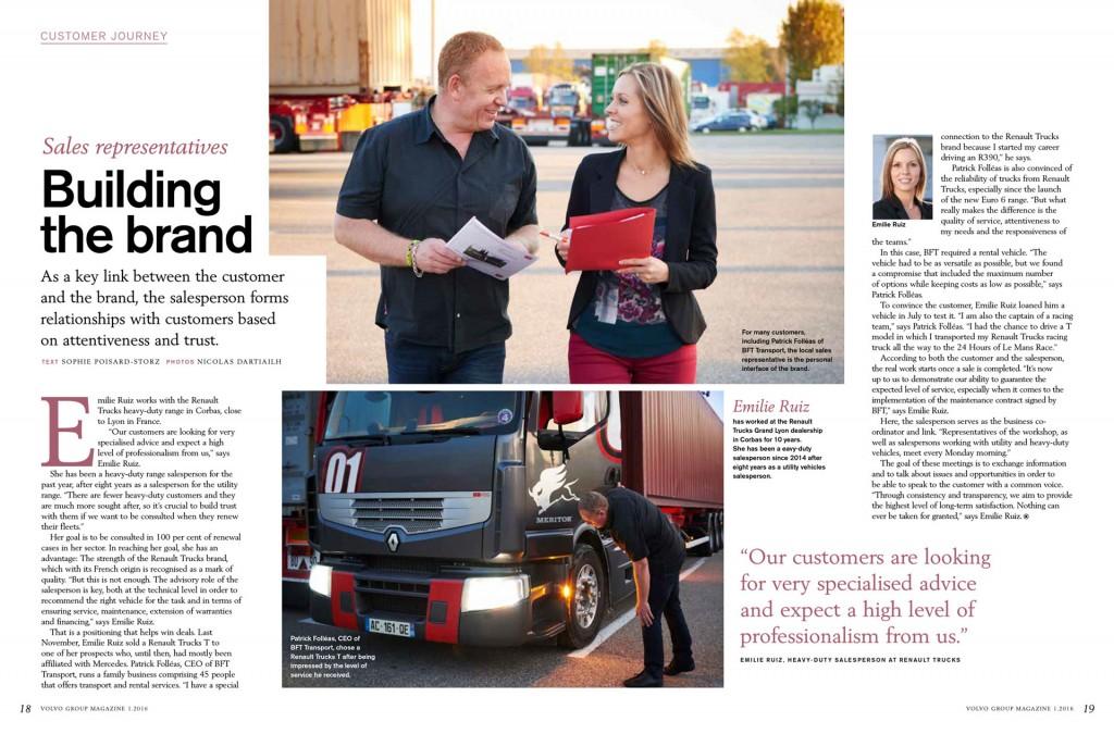 Building The Brand - Volvo Global Magazine #1 - Janvier 2016