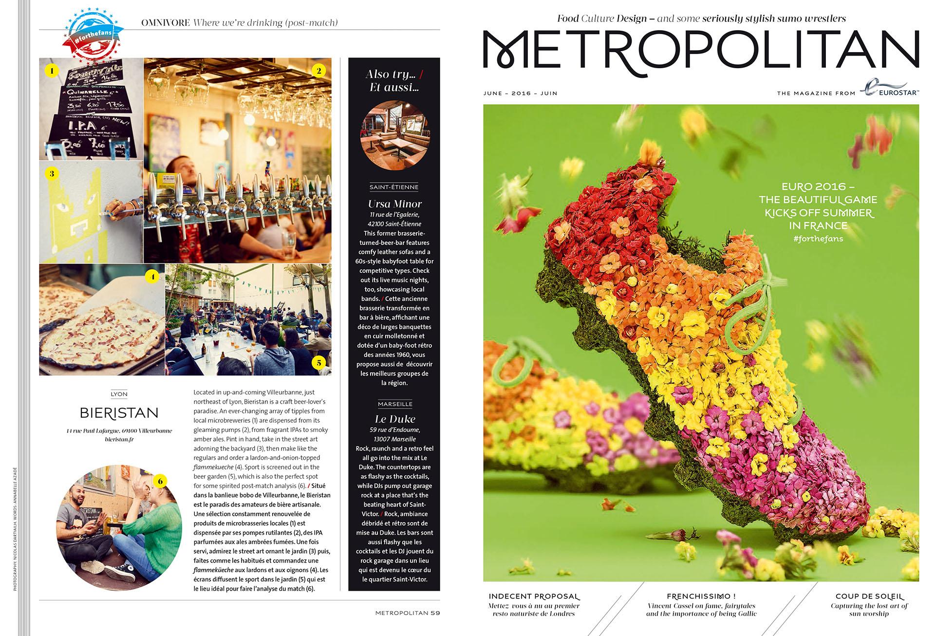Eurostar Magazine - Metropolitan - Where we're drinking - Juin 2016