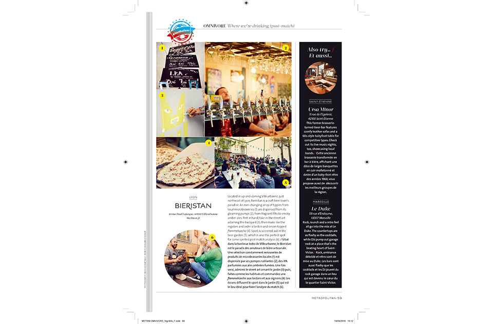 Eurostar Magazine - Metropolitan - Where we are drinking - mai 2016