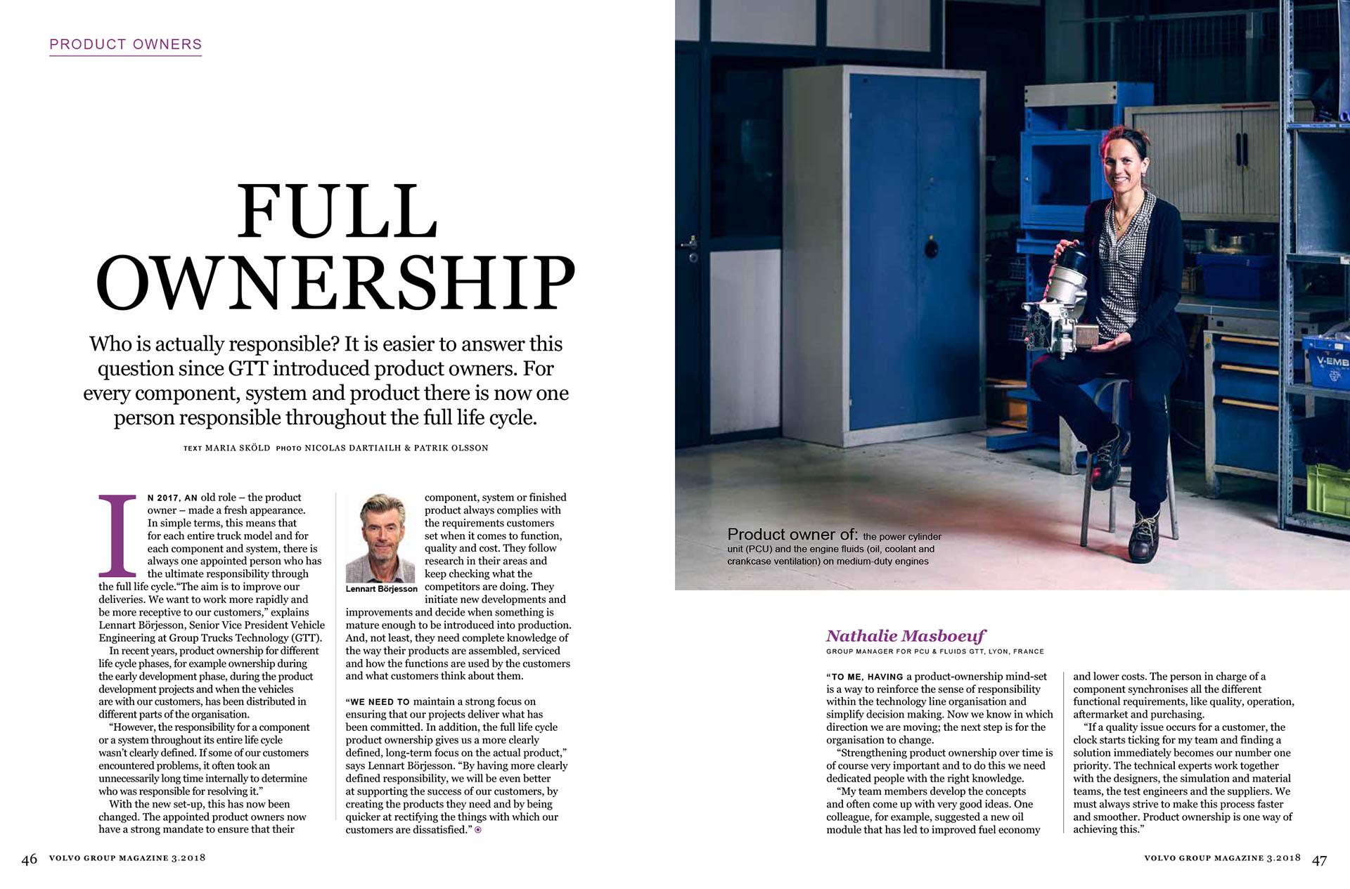 Volvo Group Magazine #3 - Full Ownership - juillet 2018